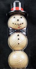Vintage Golf Ball Snowman Dunlop Maxfli Red Dot Balls Unique Holiday Golf Gift