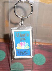 1996 Olympic Games ATLANTA NBC TV CHANNEL Keychain VERY NICE!!!!!!!!!!!!