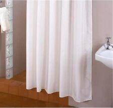 Rideau de douche blanc tissu 180 Large 215 Haut extra longueur incl. anneaux