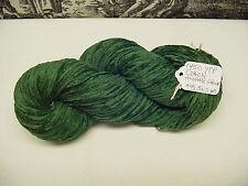 Cotton Chenille Yarn 1450 YPP 1 Skein 4 oz.Color Hunter Green