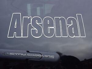 """arsenal car sticker / laptop  8"""" x 3""""  vinyl decals"""