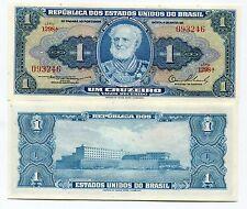 Brasil 1 Cruzeiro Pick 150d Banknote Money Unc X 10 Pieces Lot