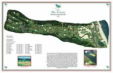 The Creek Club 1923 Seth Raynor  Vintage Golf Course Maps print