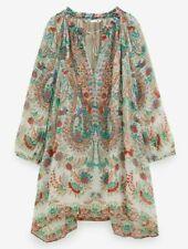 ZARA WOMAN SHORT SLOT COLLAR LONG BALLOON SLEEVES PRINTED DRESS XS 7938/009 NEW
