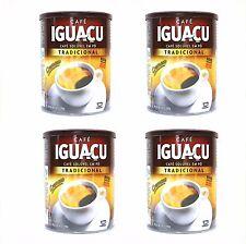 IGUACU Black Spray Dired Instant Coffee - (200g Tins x 4 Pots) Brazilian Coffee