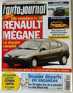 ►L'AUTO-JOURNAL du 06/1995; Renault Mégane/ Laguna Nevada/ Sharan et Galaxy