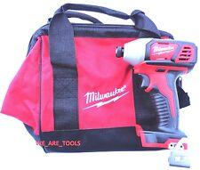 "New M18 Milwaukee 2656-20 1/4"" Cordless Battery Impact, (1) Tool Bag 18 Volt 18V"