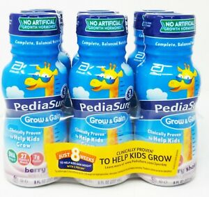 Pediasure 53818 Grow & Gain Nutritional Shake Berry EXP 6/1/21 QTY 24-8oz Bottle