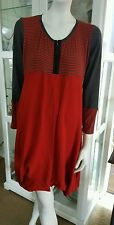 Cafe NZ Dress.Sz10.Soft jersey bodice with viscose skirt. Good for layering.VGC