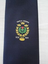 Vintage Scotland Rugby Triple Crown Winner 1938 & 1984 Commemorative Tie
