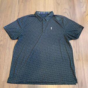 William Murray Mens Golf Polo Blue Green Size XXL