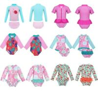 US Baby Girls Tankini Swimwear UPF 50+ Rash Guard Swimsuit Bathing Swimming Suit