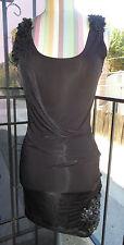 Sexy *ALICE + OLIVIA* Black Stretch Body Con Wrap Dress Paillettes XS