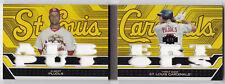 Albert Pujols 2008 Triple Threads Booklet Combo Relics 12 GU Jersey Gold /9 Book