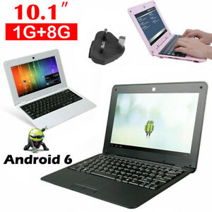 10 inch Mini Kids Laptop 1GB +8GB Android 6.0 WiFi Notebook Netbook PC Xmas Gift