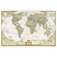 World Map Executive Style by National Geographic Standard Size Paper