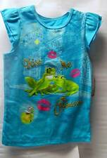 "LOVELY TEE-SHIRT DISNEY PRINCESSE TIANA ET LA GRENOUILLE 7-8 ans "" KISS ME """