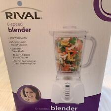 Blender White RIVAL 6-SPEED BLENDER MODEL DC-TB170 (New In Box) 48 Ounce Pitcher