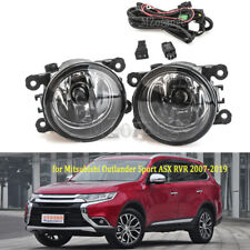 2X Front Fog Light Lamps +Switch Wire Kit For Mitsubishi Outlander Sport RVR ASX
