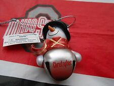 """GANZ Snowman Personalized """"CHRISTOPHER"""" Top Hat Jingle Bell Ornament 2 1/4""""  NEW"""