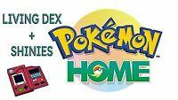 Pokemon Sword and Shield Shiny Living Dex - Home Galar Dex - With Isle of Armor