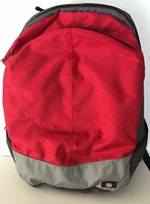 Wenger Red and Gray Four Pocket Backpack NWOT