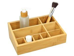 Bamboo Cosmetic Organiser Tidy, Makeup Storage Display