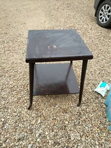 Vintage Wooden Table With Wheels