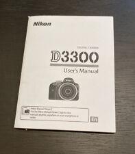 Nikon D3300 Users Manual