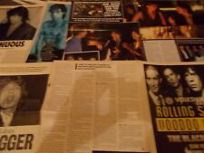 THE ROLLING STONES CELEBRITY  CLIPPINGS PACK OVER 100  GOOD CONDITION