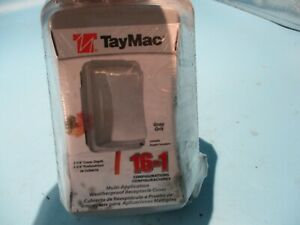 NEW HUBBELL TAYMAC MM410G 1-GANG GRAY WEATHERPROOF RECEPTACLE COVER