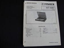 Original Service Manual Fisher MT-M87
