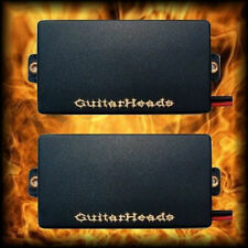Guitar Pickups - GUITARHEADS ACTIVE HUMBUCKERS - Set of 2 - BLACK