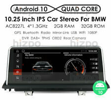 """Android 10 10.25"""" Car GPS Stereo 4-Core 2+32GB For BMW X5 E70 X6 E71 CIC 11-13"""