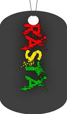 Rasta Flag Adult Dog Tag Chain Necklace Name Version #1