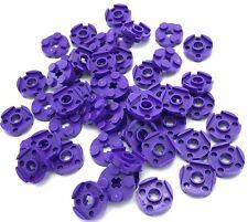 LEGO x 40 Dark Purple Brick Round 2 x 2 with Axle Hole NEW