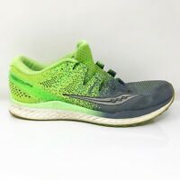 Saucony Mens Freedom ISO 2 S20440-4 Green Gray Running Shoes Lace Up Size 10.5