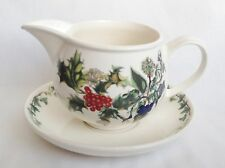 NEW Portmeirion The Holly and The Ivy Gravy Boat and Stand / Sauce Boat UNUSED