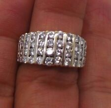 STUNNING 18K WG LADIES DIAMOND CLUSTER BAND RING 1.65 tcw SZ 7 G106732 7.49 grms