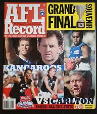 1999 Grand Final  record North Melbourne v Carlton National Edition