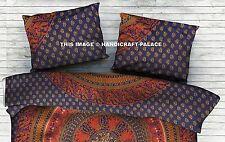Indian Cotton Cushion Cover Elephant Pillow Cover Mandala Pillow Sham Pouf Case
