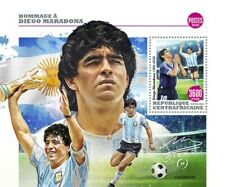 More details for central african rep football stamps 2020 mnh diego maradona people sports 1v s/s