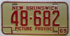 New Brunswick 1969 License Plate NICE QUALITY # 48-682