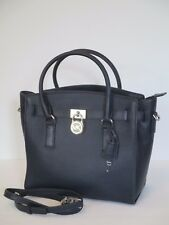 Michael Kors Hamilton Studio Navy Leather Large Handbag Satchel