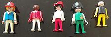Vintage Playmobil selección Surtido 5 figuras diversas condiciones 1974 Original