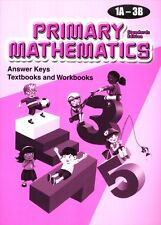 Primary Mathematics Answer Key Booklet 1A-3B (Standards Edition) - FREE SHIPPING