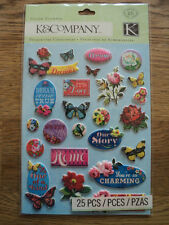 K & CO BLOOMSCAPE PILLOW STICKERS BNIP