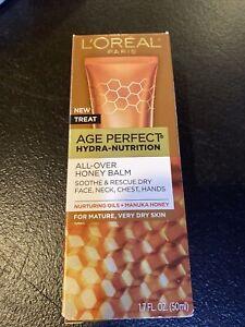 New L'Oréal Paris Age Perfect Hydra-Nutrition All Over Honey Balm 1.7 Fl Oz Tube
