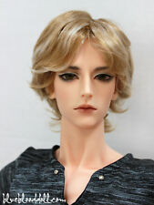 "1/3 bjd 9-10"" doll head 2 colors synthetic mohair wig Luts Soom Pullip Taeyan"