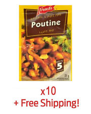 10 Pack of Authentic French's Poutine Sauce Gravy - From Québec + Free Shipping